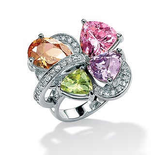 Lillith Star Sterling Silver Multi-colored Cubic Zirconia Ring