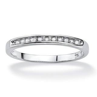 10k White Gold 1/10 TCW Diamond Band