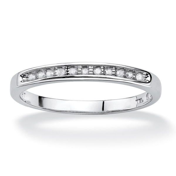 PalmBeach 10k White Gold 1/10 TCW Diamond Band