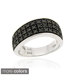 DB Designs Sterling Silver 1/2ct TDW Brown or Black Diamond Wave Ring