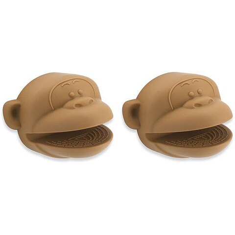 Kitchen Kritters Silicone Monkey Pot Holders (Pack of 2)