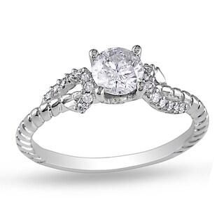 Miadora 14k White Gold 5/8ct TDW Diamond Ring