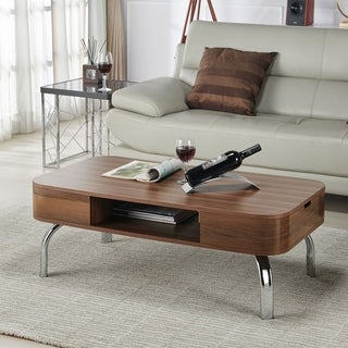 Furniture of America Berkley Mid-Century Modern Walnut Coffee Table