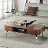 Furniture of America Berkley Walnut Mid-Century Modern Coffee Table