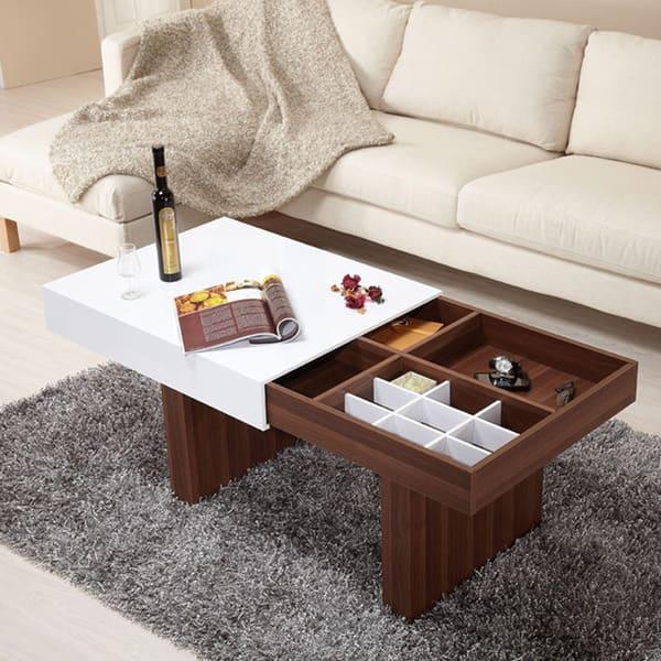 Outstanding Furniture Of America Novia 2 Tone Wood Coffee Table Multi Beatyapartments Chair Design Images Beatyapartmentscom
