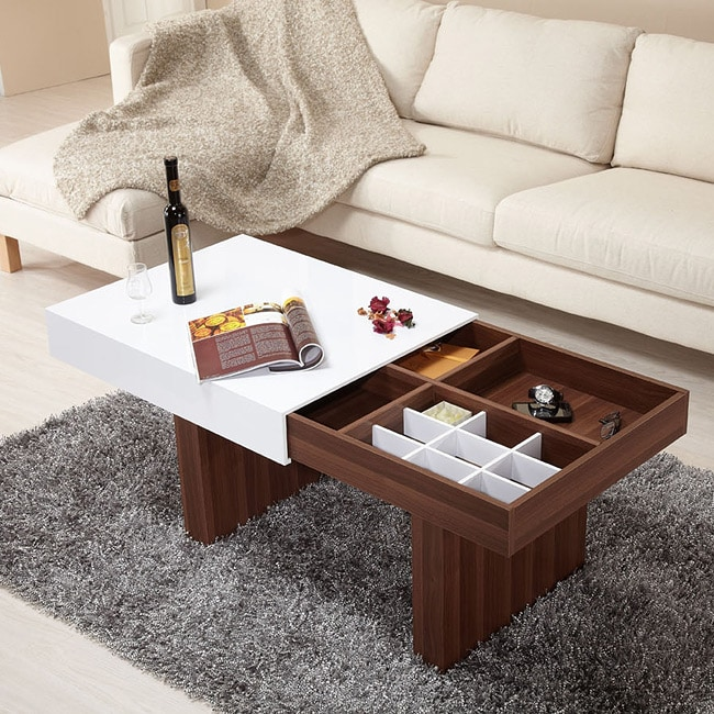 Furniture of America Novia 2-Tone Wood Coffee Table