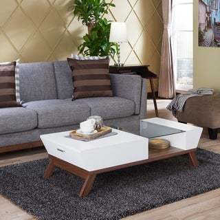 Awesome Furniture Of America Kress Glass Insert Coffee Table