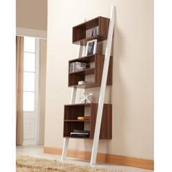Furniture of America Pixie Leaning Tower Bookcase/ Display Shelf - Thumbnail 1