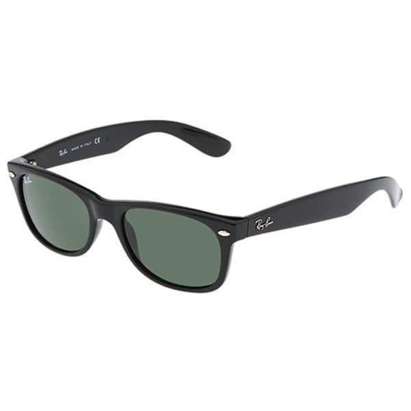 4842bfd02ce Shop Ray-Ban New Wayfarer RB2132 Polarized Sunglasses - Black - Free ...