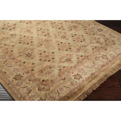 Hand-knotted Diamonds Beige Wool Area Rug - 2'6 x 8'