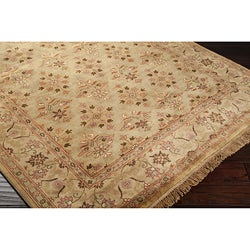 Hand-knotted Bronze Wool Rug (9'6 x 13'6)