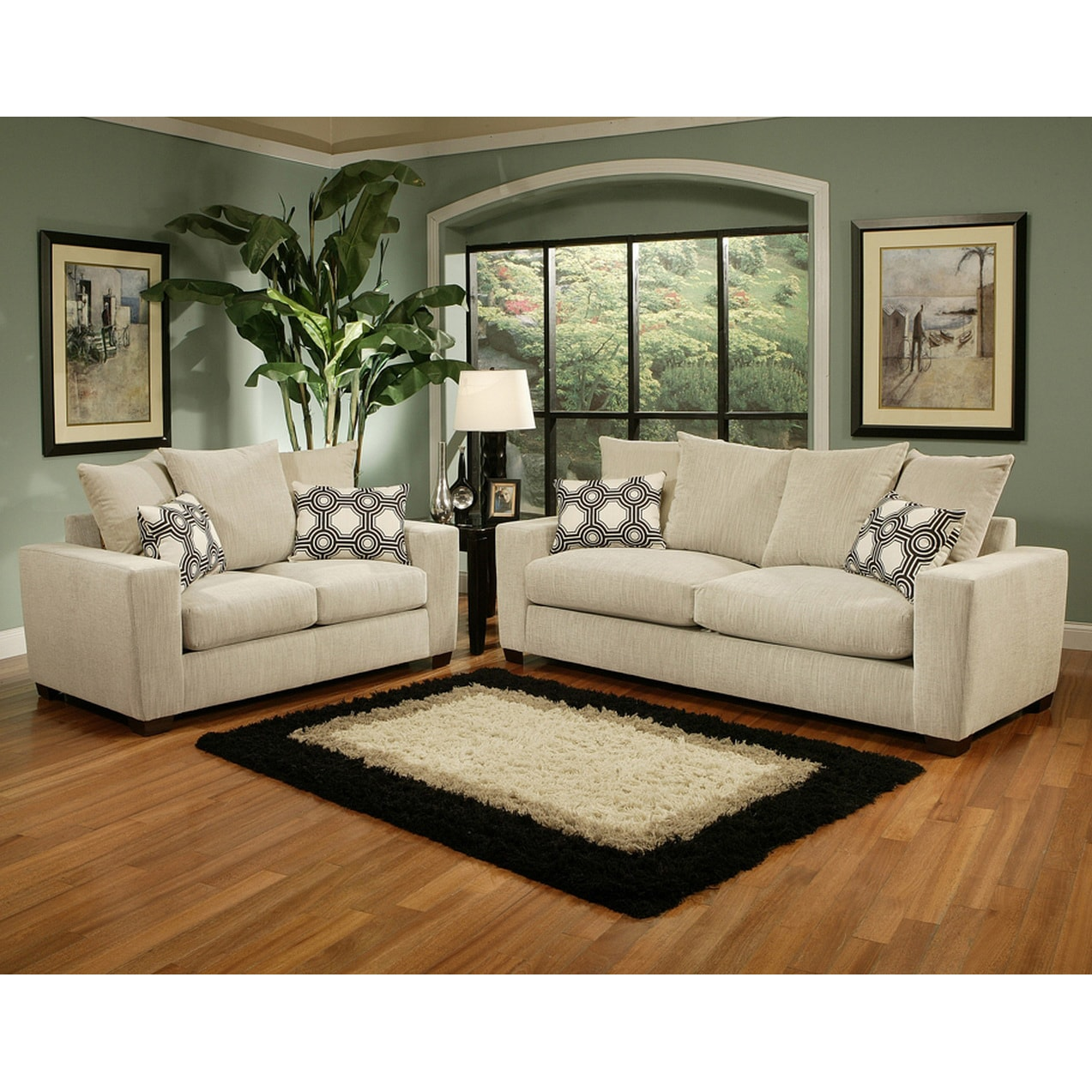 Picture of: Furniture Of America Marty 2 Piece Sofa And Love Seat Set Overstock 5329820