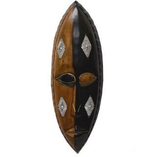 Handmade Cedrella Wood 'Asem Pa' Face Mask (Ghana)