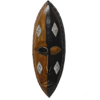 Hand-carved Cedrella Wood 'Asem Pa' Face Mask (Ghana)