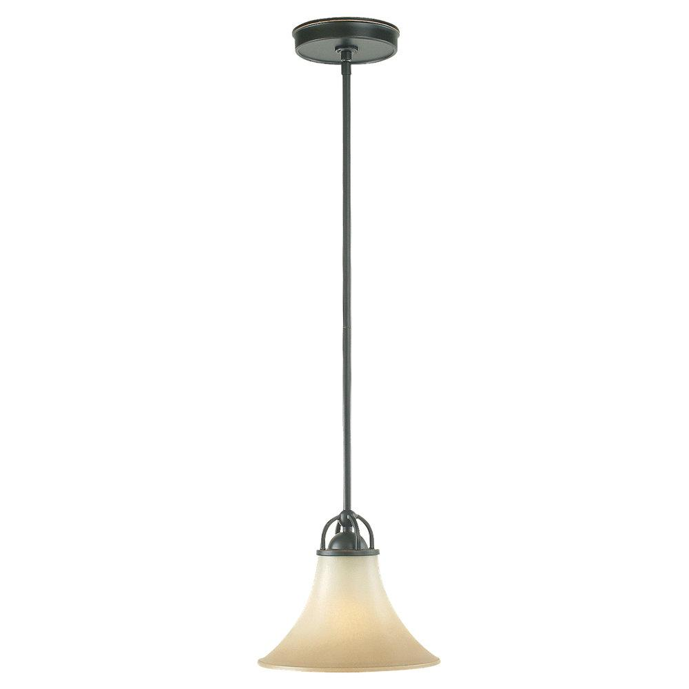 Fallsburg 1-light Heirloom Bronze Fluorescent Mini Pendant Fixture