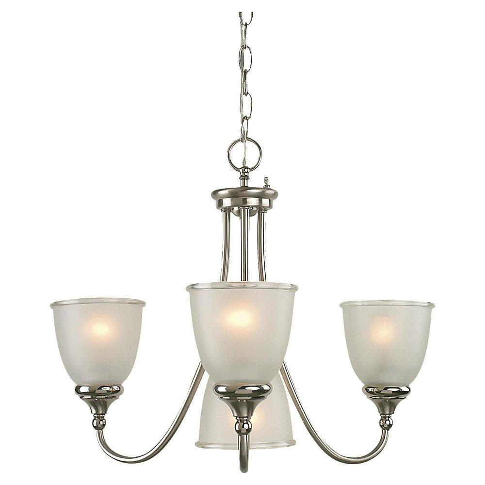 Easton 4-light Two-tone Nickel Fluorescent Chandelier - Thumbnail 0
