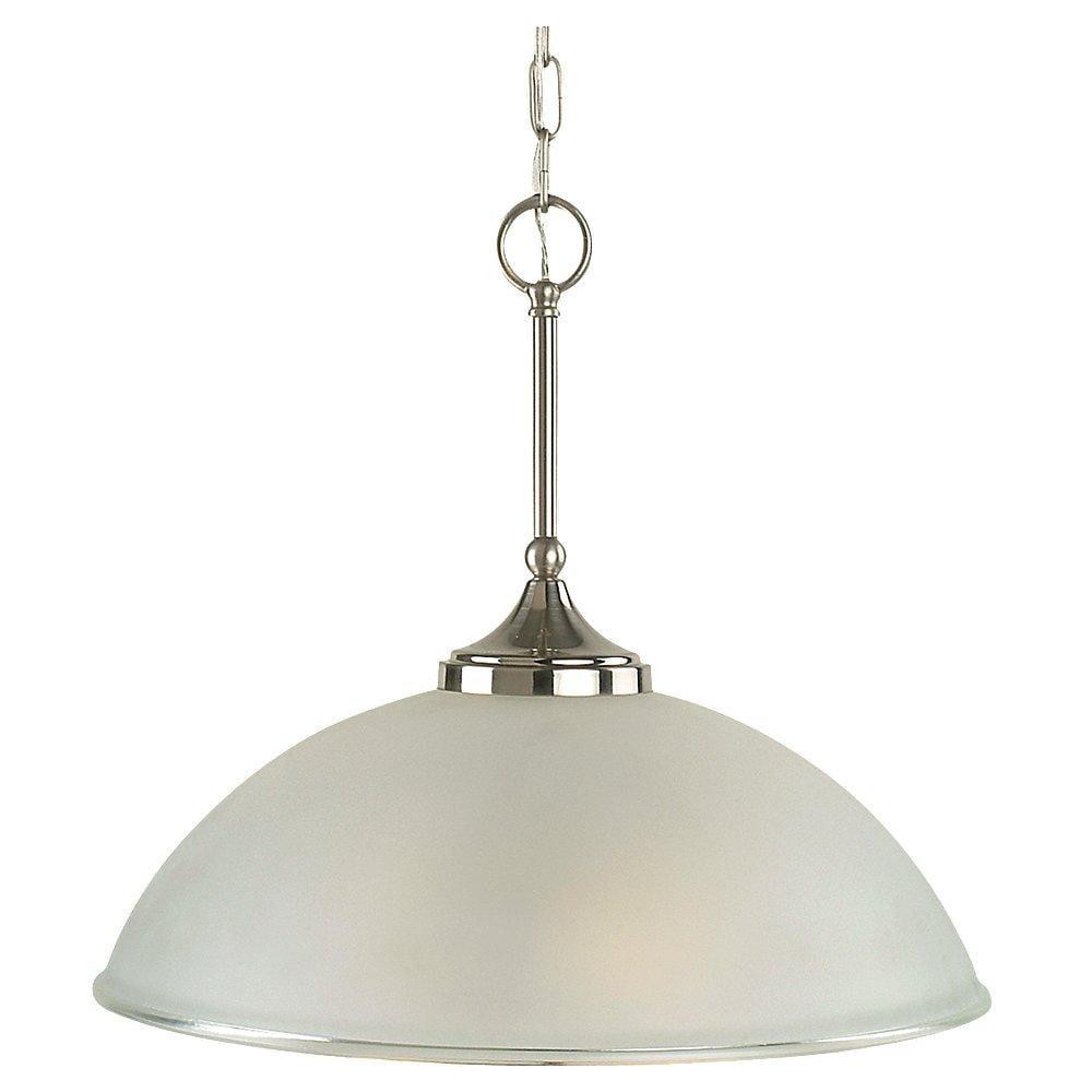 Easton 1-light Two-tone Nickel Fluorescent Pendant