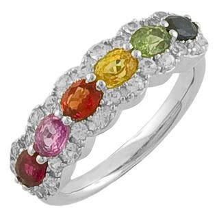 Fremada Sterling Silver Multi-colored Sapphire Ring|https://ak1.ostkcdn.com/images/products/5330113/P13134963.jpg?impolicy=medium