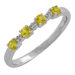 Fremada Sterling Silver Yellow Sapphire and Diamond Accent Ring|https://ak1.ostkcdn.com/images/products/5330115/P13134965.jpg?impolicy=medium