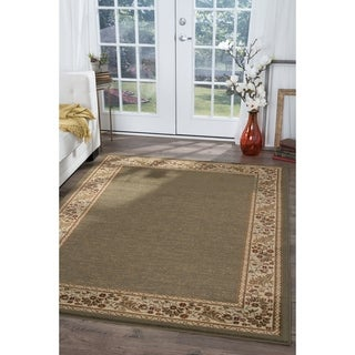 Alise Soho Green Oriental Rug (5'3 x 7'3)
