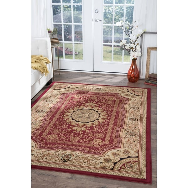 Alise Soho Red Oriental Area Rug - 5'3 x 7'3