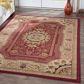 Alise Soho Red Oriental Area Rug (5'3 x 7'3)