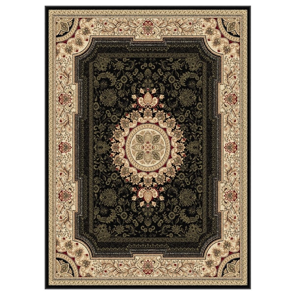 Alise Soho Black Oriental Rug (7'10 x 10'3)