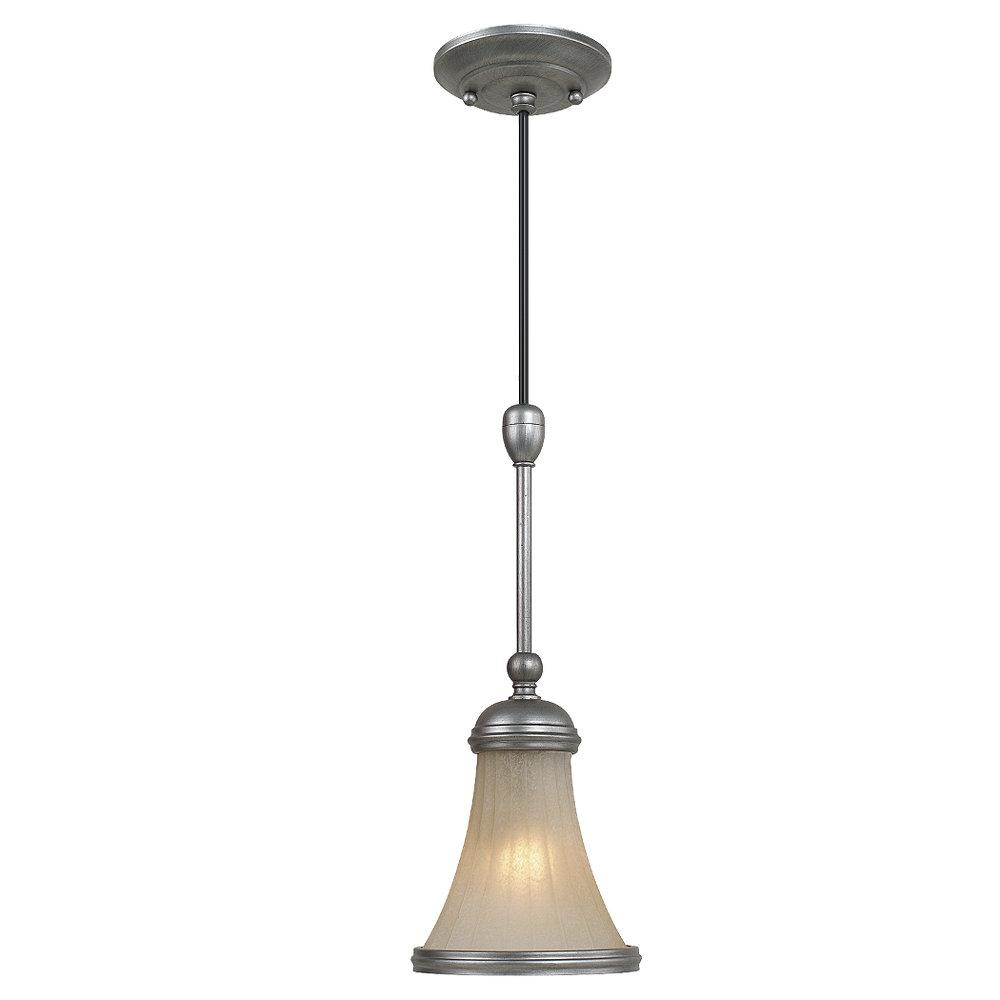 Royce 1-light Antique Brushed Nickel Pendant Fixture - Thumbnail 0