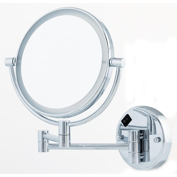 Danielle 1x 5x Round Led Lighted Wall Mount Mirror Free