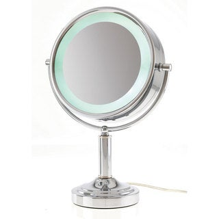 Danielle 1x-15x L.E.D. Lighted Flip Vanity Mirror