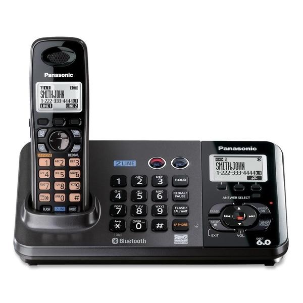 Panasonic DECT 6.0 1.90 GHz Cordless Phone - Titanium