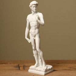 White Bonded Marble Michelangelo's David Statue