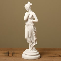 White Bonded Marble 'The Dancer' Statue