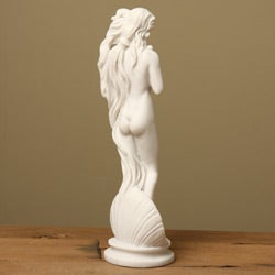 White Bonded Marble Boticell's 'Birth of Venus' Statue - Thumbnail 1