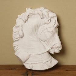 White Bonded Marble Athenian Horse Museum Fragment