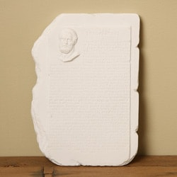 White Bonded Marble Hippocratic Oath Wall Fragment - Thumbnail 0