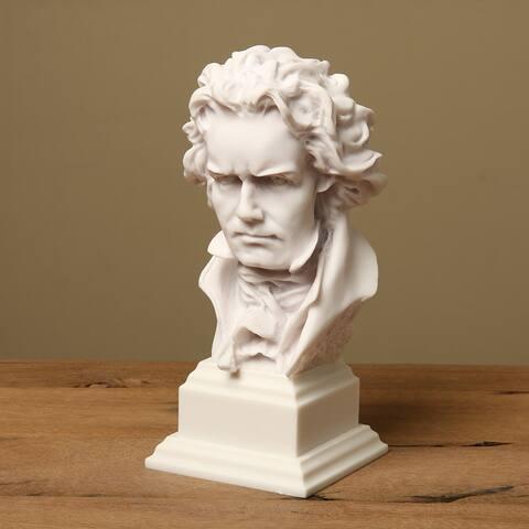 White Bonded Marble Prometheus Beethoven Bust