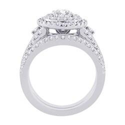 14k White Gold 1 1/4ct TDW Diamond Engagement Set (G-H, SI2-I1) (Size 6.75) - Thumbnail 1