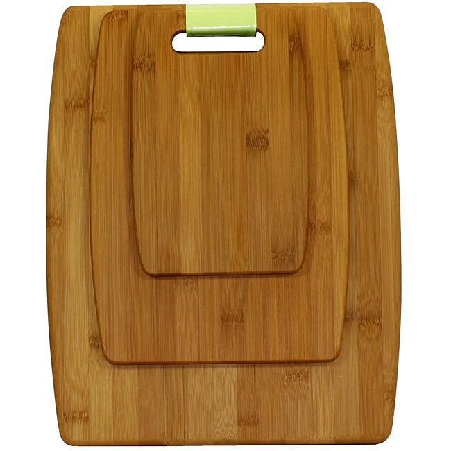 Oceanstar Lightweight Bamboo Cutting Board Set (Set of 3) - Thumbnail 0