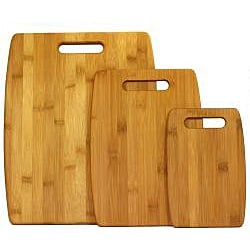 Oceanstar Lightweight Bamboo Cutting Board Set (Set of 3) - Thumbnail 1