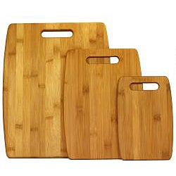 Oceanstar Lightweight 3-Piece Bamboo Cutting Board Set