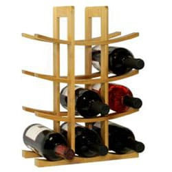 Oceanstar 12-bottle Natural Bamboo Wine Rack - Thumbnail 1