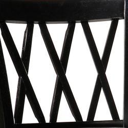 Jasna Wood Black Leather Bar Stool-