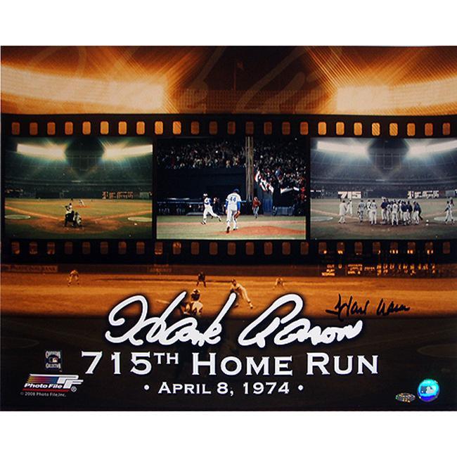 Steiner Sports Hank Aaron 715 Collage 16x20 Photograph