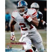 Steiner Sports Tiki Barber Eclipsing the 10,000 Yard Rushing Mark Autographed Photo