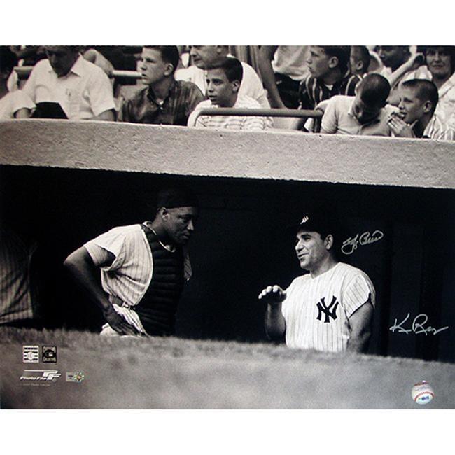 Steiner Sports Yogi Berra w/ Elston Howard Autographed Dugout Photo