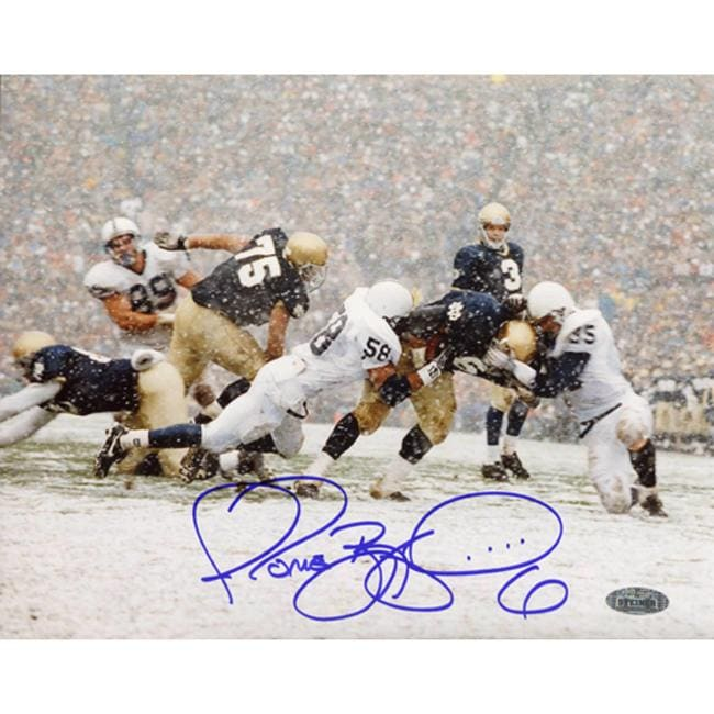 Notre Dame Jerome Bettis Being Tackled vs. Penn State Autographed Photograph