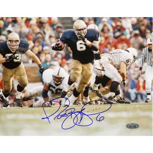 Steiner Sports Jerome Bettis Running vs. Penn State Photograph