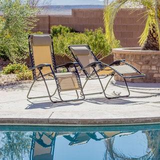 Caravan Canopy Beige Zero-Gravity Chairs (Set of 2)