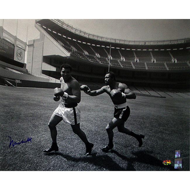 Steiner Sports Muhammad Ali Running At Yankee Stadium Photograph